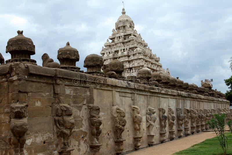 Tempiale di Kailasanathar, Kanchipuram, India immagini stock libere da diritti