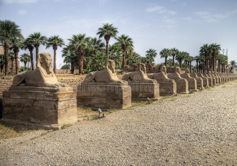 Tempiale di Karnak fotografie stock libere da diritti