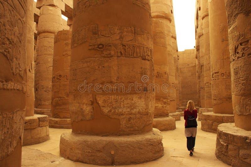 Tempiale di Karnak a Luxor, Egitto immagine stock libera da diritti