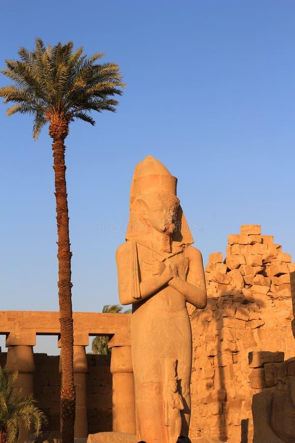 Tempiale di Karnak a Luxor, Egitto fotografia stock libera da diritti