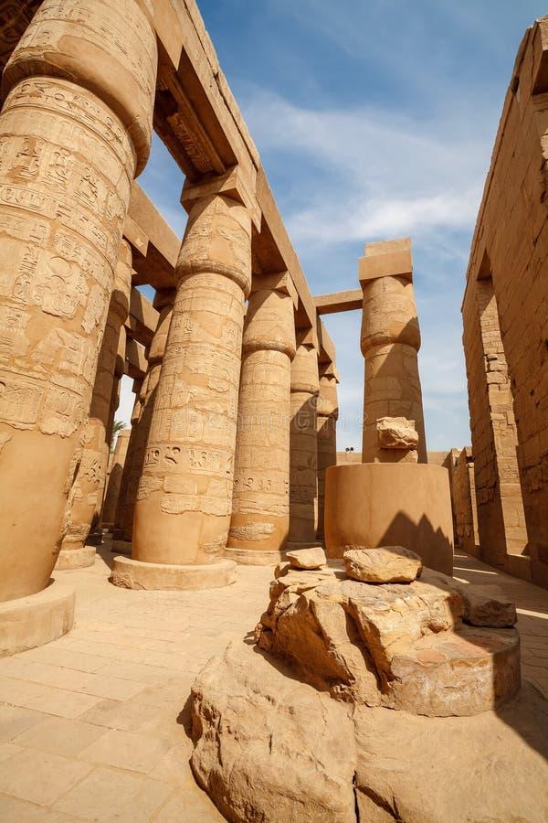 Tempiale di Karnak a Luxor. L'Egitto fotografia stock