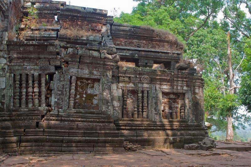 Tempiale di Khmer di Wat Phu nel Laos fotografie stock libere da diritti