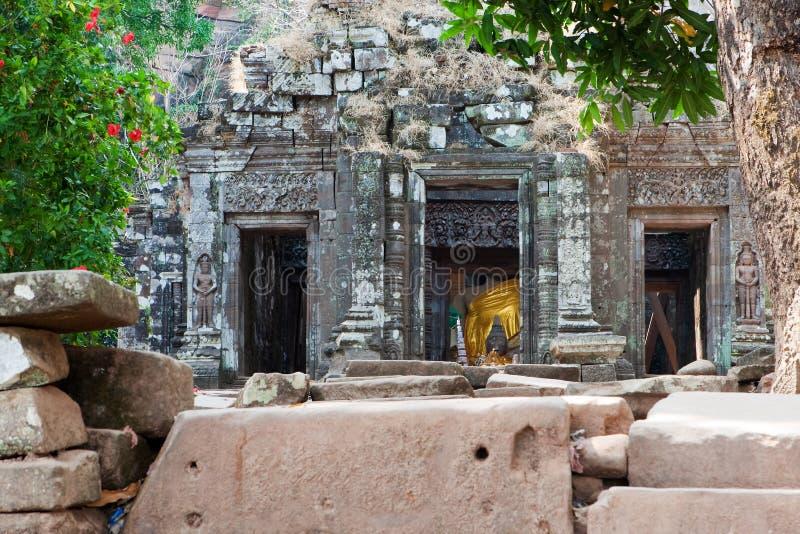 Tempiale di Khmer di Wat Phu nel Laos immagine stock