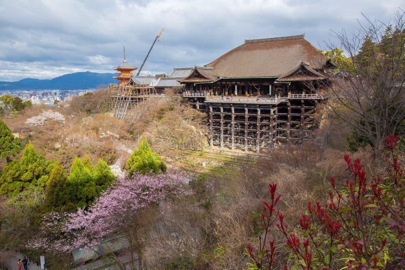 Tempiale di Kiyomizu-dera a Kyoto immagini stock libere da diritti
