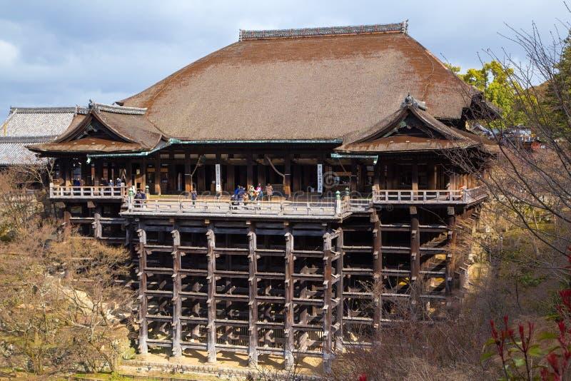 Tempiale di Kiyomizu-dera a Kyoto fotografia stock libera da diritti