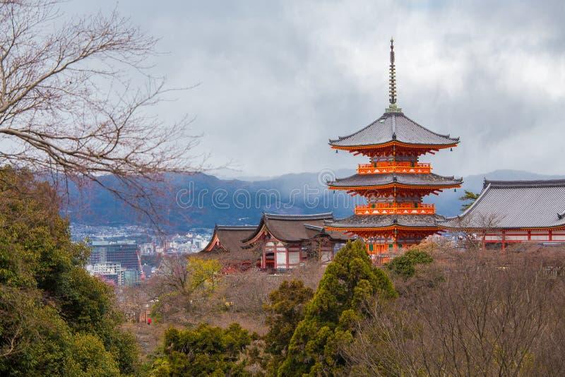 Tempiale di Kiyomizu-dera a Kyoto immagine stock libera da diritti