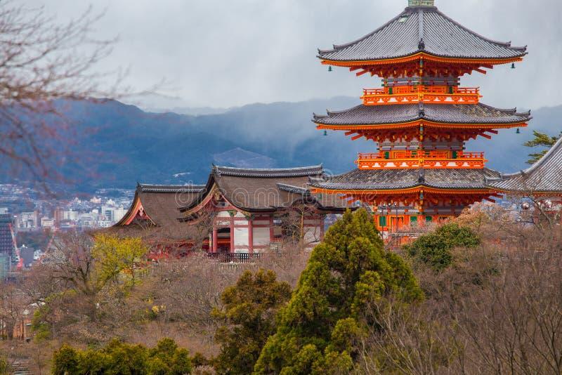 Tempiale di Kiyomizu-dera a Kyoto fotografie stock libere da diritti