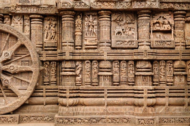 Tempiale di Konarak fotografia stock libera da diritti