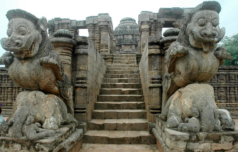Tempiale di Konark dell'Orissa-India. fotografia stock