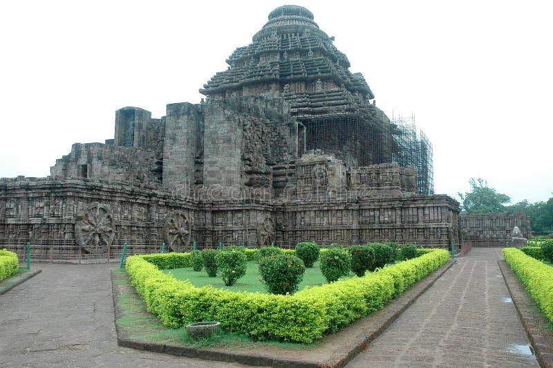Tempiale di Konark dell'Orissa-India. immagini stock libere da diritti