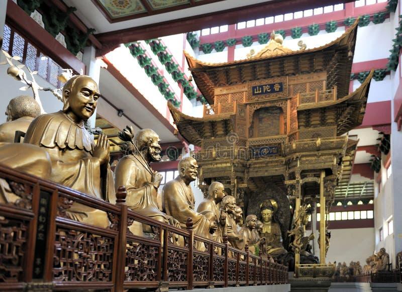 Tempiale di Lingyin, Hangzhou, provincia di Shandong fotografia stock libera da diritti