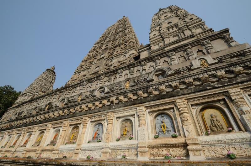 Tempiale di Mahabodhi fotografia stock libera da diritti