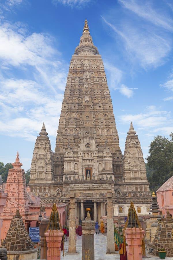 Tempiale di Mahabodhi. fotografia stock libera da diritti