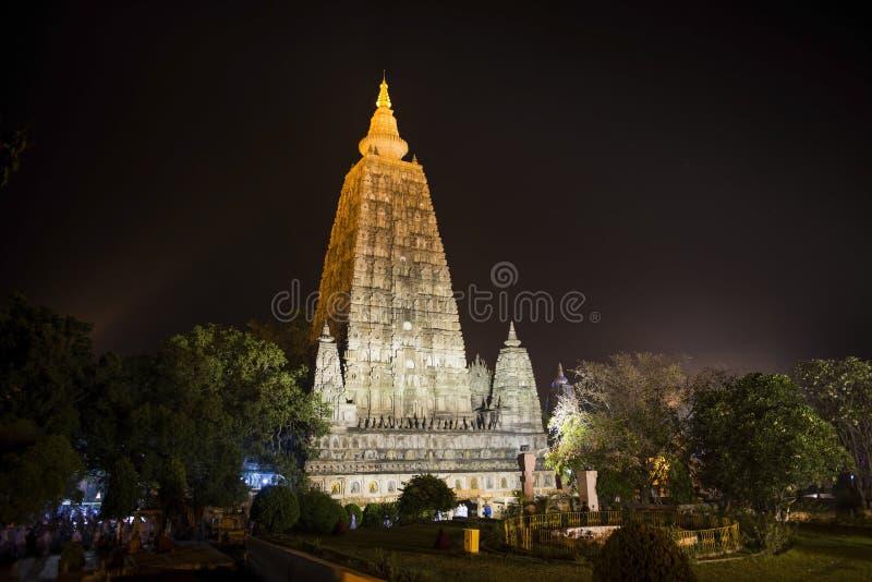 Tempiale di Mahabodhi immagini stock libere da diritti