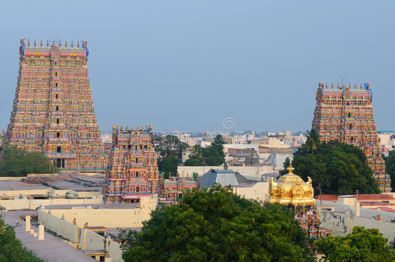 Tempiale di Meenakshi Sundareswarar fotografia stock