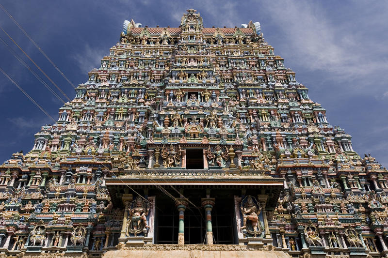 Tempiale di Minakshi Sundareshvara - Madura - India fotografie stock