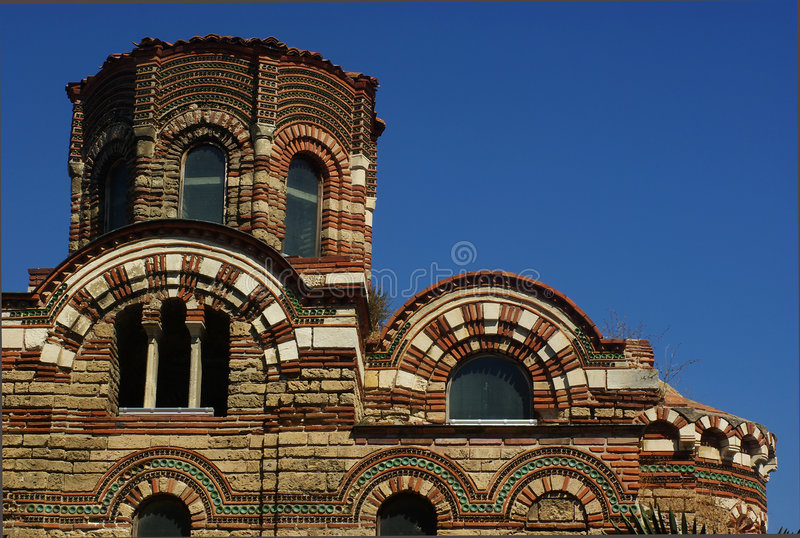 Tempiale di Nesebr in Bulgaria immagine stock libera da diritti