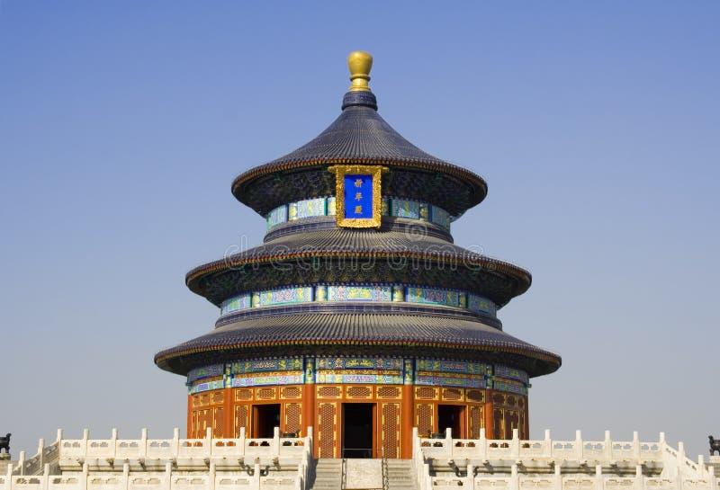 Tempiale di Pechino di cielo fotografie stock