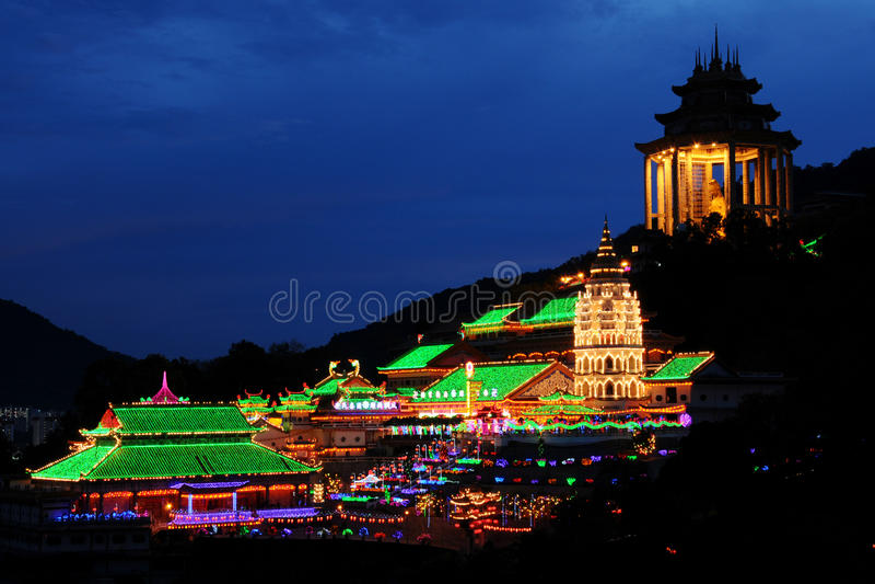 Tempiale di Penang Kek Lok Si, Malesia fotografie stock
