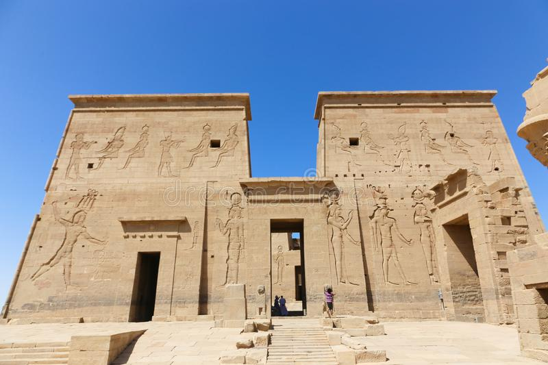 Tempiale di Philae, Egitto immagine stock
