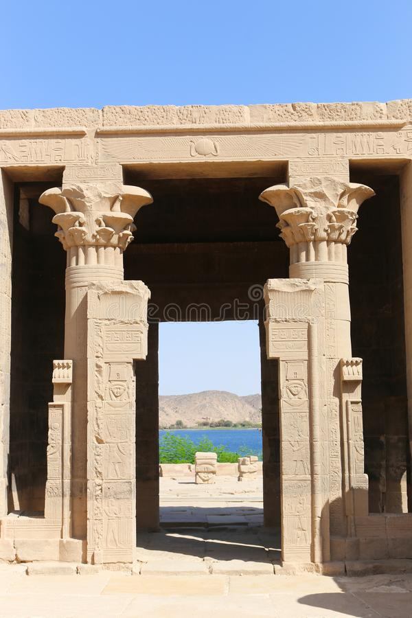 Tempiale di Philae, Egitto immagini stock