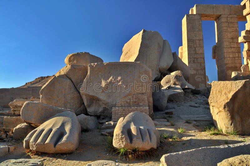 Tempiale di Ramesseum immagine stock libera da diritti