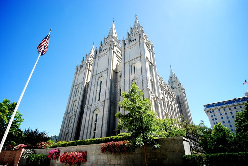 Tempiale di Salt Lake LDS immagini stock
