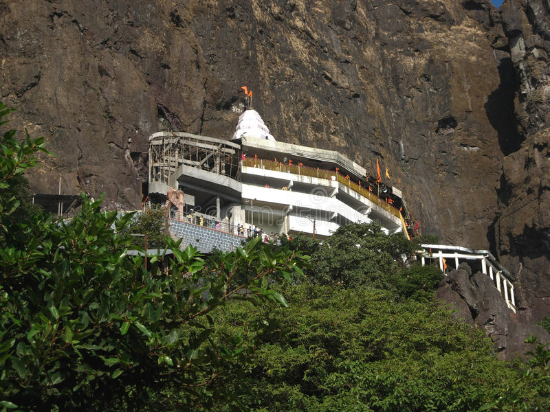 Tempiale di Saptashrungi fotografie stock