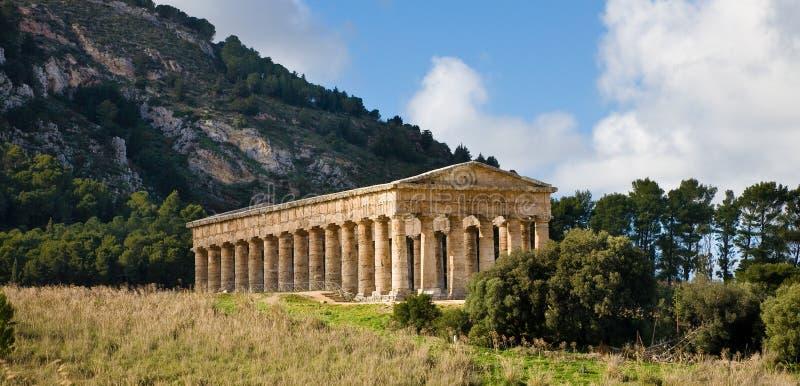 Tempiale di Segesta, Sicilia fotografie stock