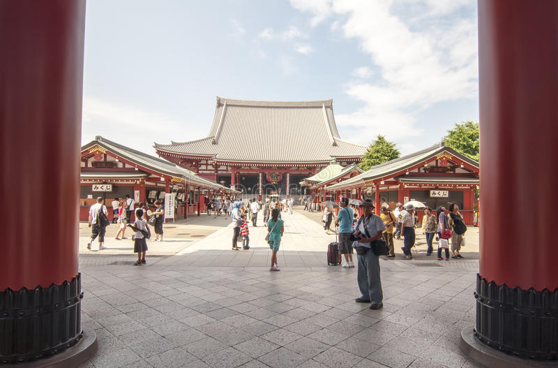 Tempiale di Senso-ji, Tokyo fotografie stock libere da diritti