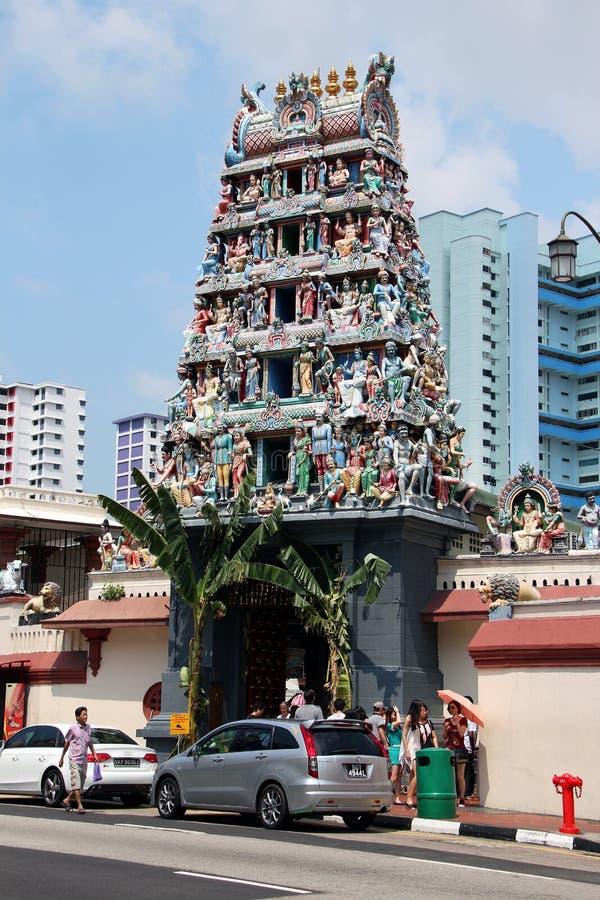 Tempiale di Sri Mariamman - Singapore fotografia stock