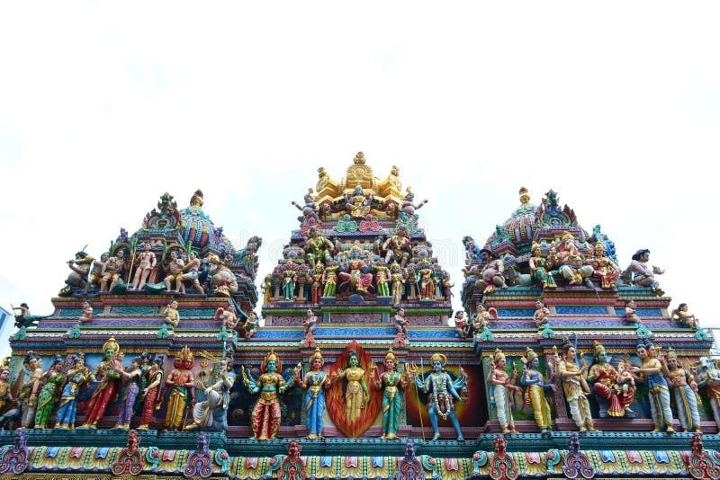 Tempiale di Sri Veeramakaliamman a Singapore fotografia stock libera da diritti