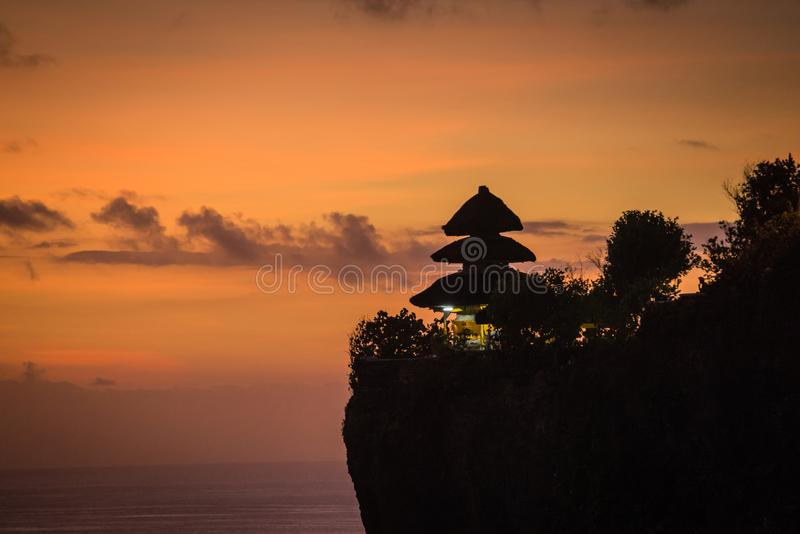 Tempiale di Uluwatu in Bali fotografia stock