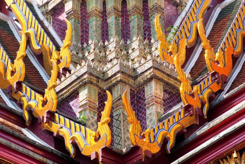 Tempiale di Wat Phra Kaeo, Bangkok, Tailandia. immagine stock