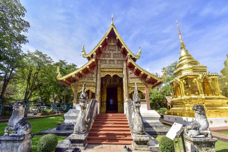 Tempiale di Wat Phra Singh in Chiang Mai, Tailandia immagini stock libere da diritti