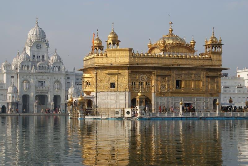 Tempiale dorato a Amritsar immagine stock libera da diritti