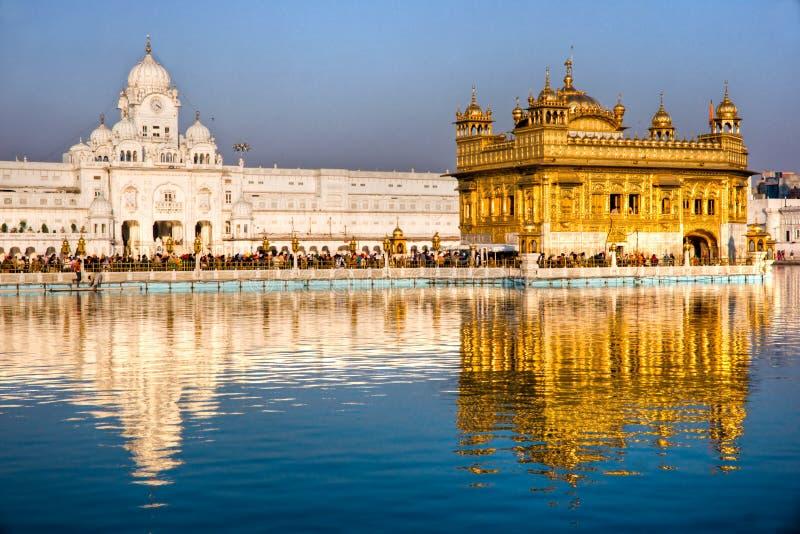 Tempiale dorato a Amritsar, Punjab, India. immagini stock libere da diritti