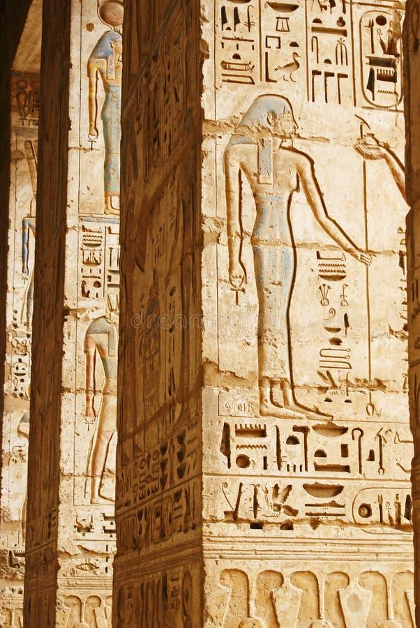 Tempiale egiziano antico fotografia stock libera da diritti