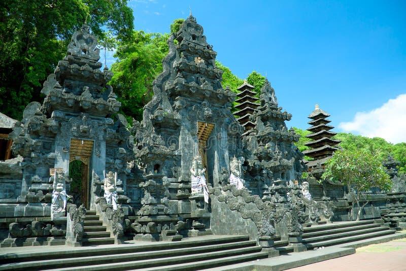 Tempiale Goa Lawah, Bali del blocco fotografie stock libere da diritti