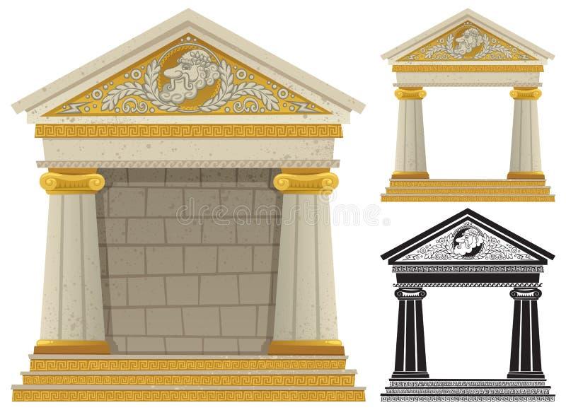 Tempiale greco royalty illustrazione gratis