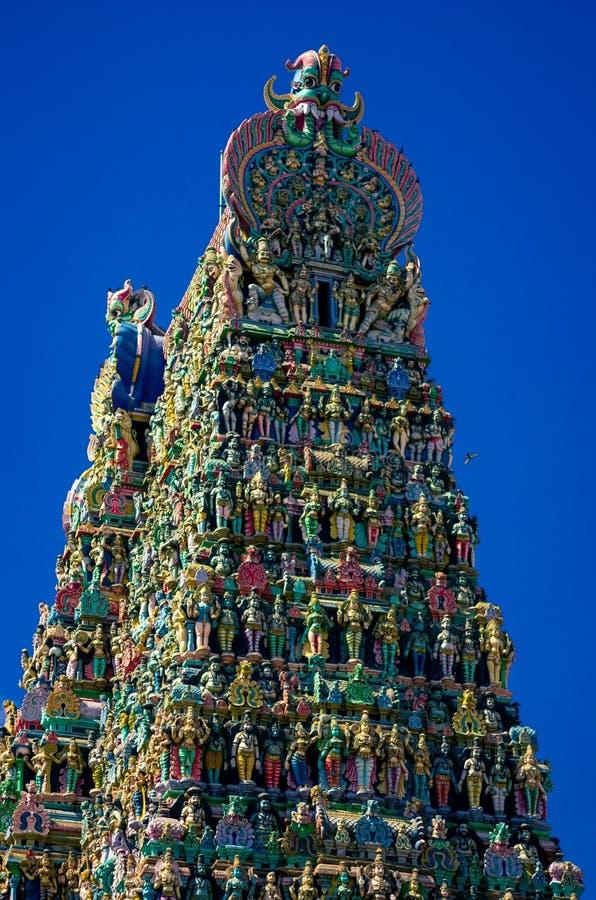 Tempiale indù di Meenakshi a Madura immagine stock libera da diritti