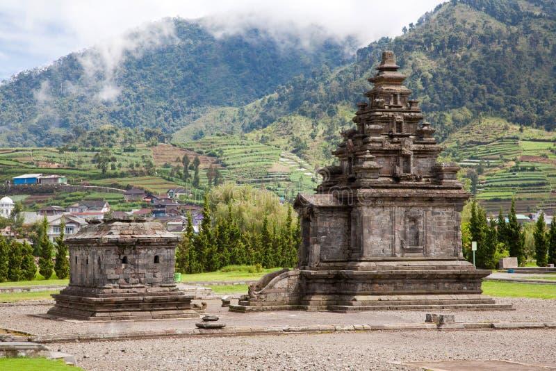 Tempiale Indonesia del plateau di Dieng immagini stock libere da diritti