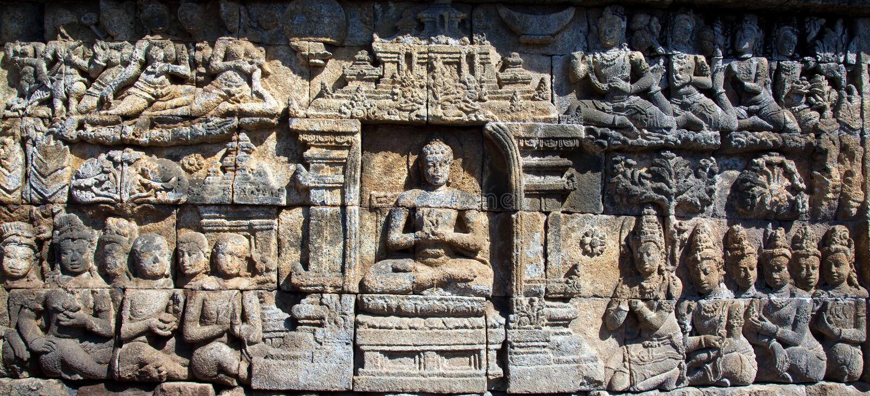Tempiale Indonesia di Borobudur fotografie stock libere da diritti