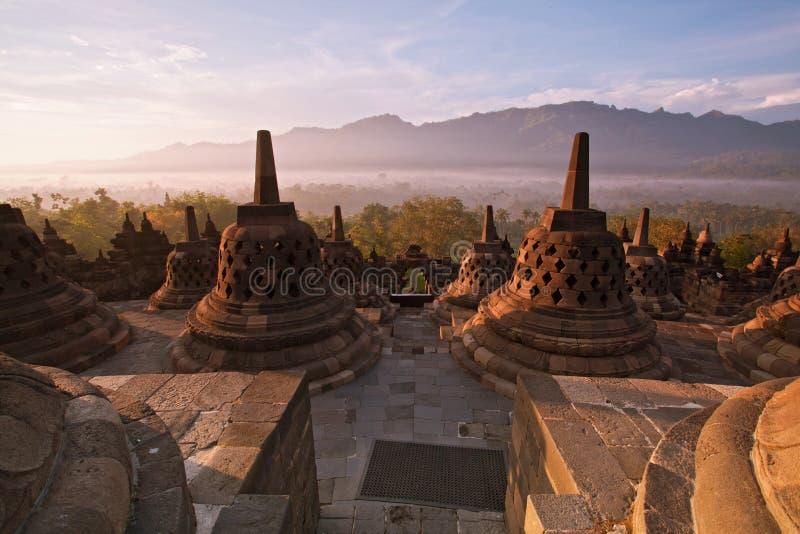 Tempiale Indonesia di Borobudur fotografia stock libera da diritti