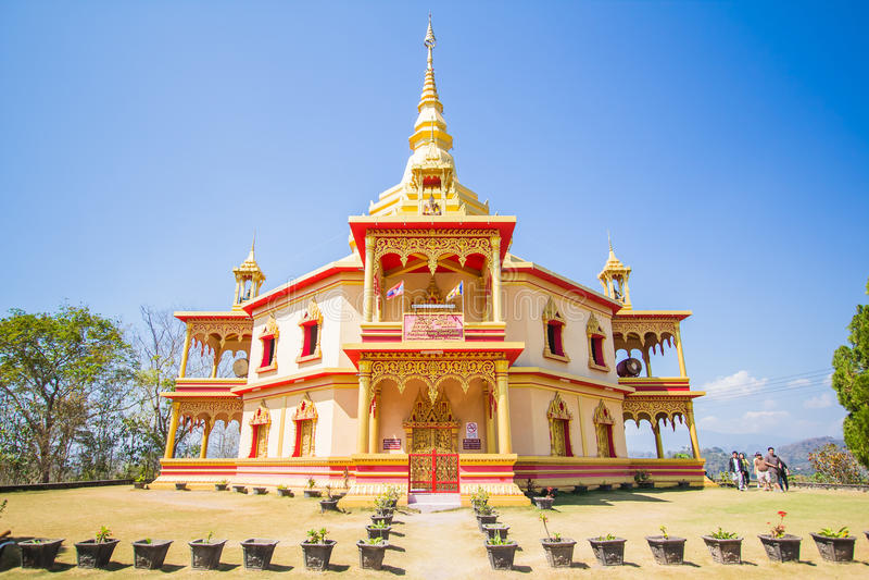 Tempiale in Luang Prabang, Laos immagine stock