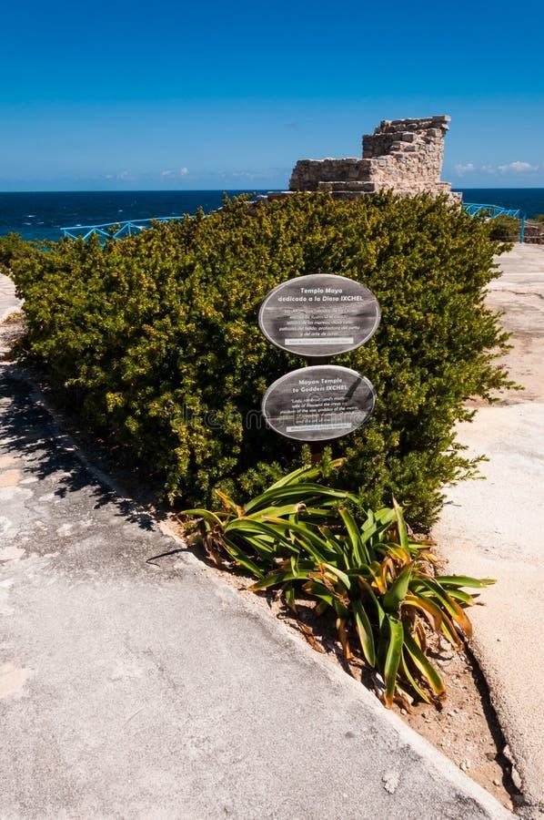 Tempiale Mayan su Isla Mujeres, Messico immagini stock