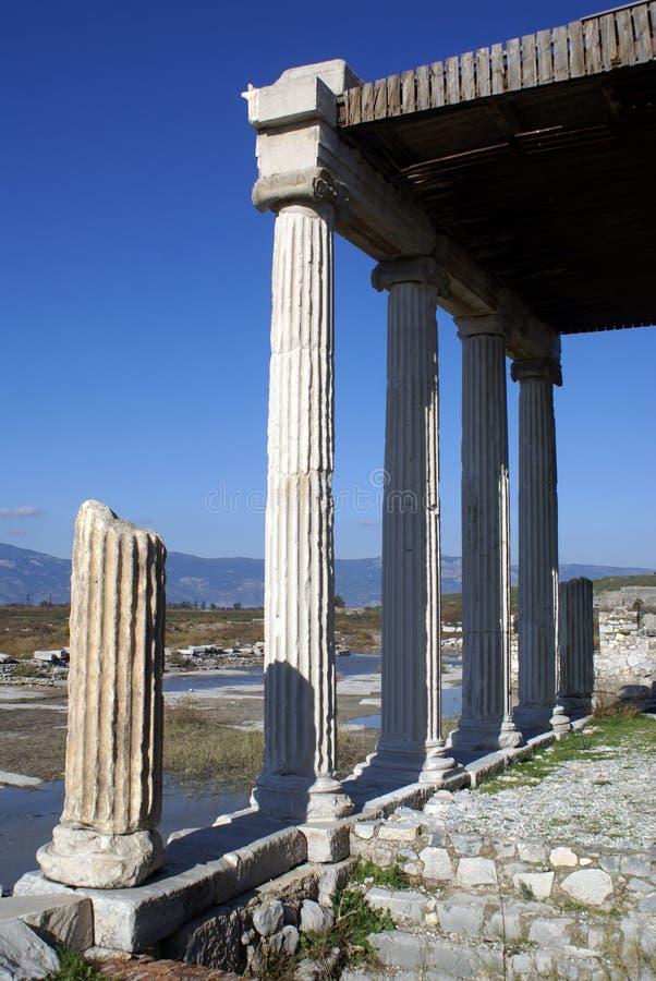 Tempiale in Miletus fotografia stock libera da diritti