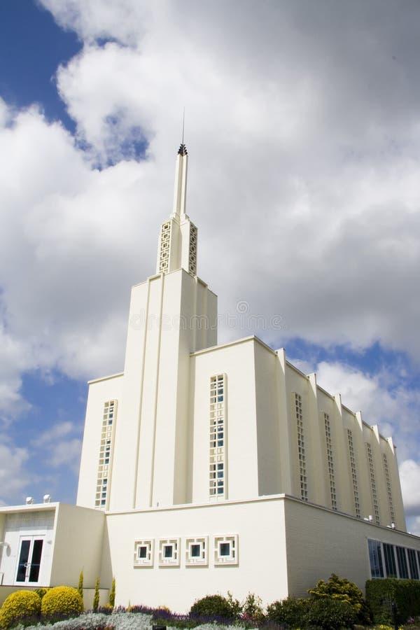 Tempiale mormonico di Hamilton Nuova Zelanda immagini stock libere da diritti