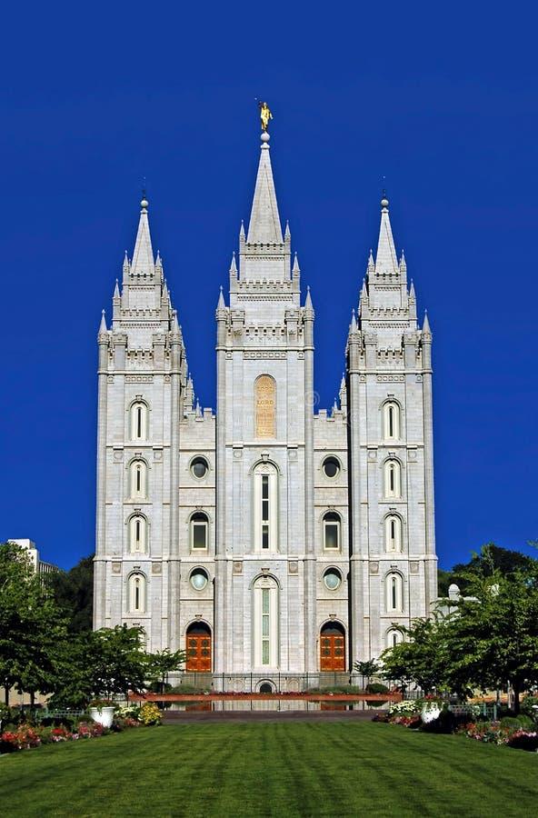Tempiale mormonico, Salt Lake City fotografia stock libera da diritti
