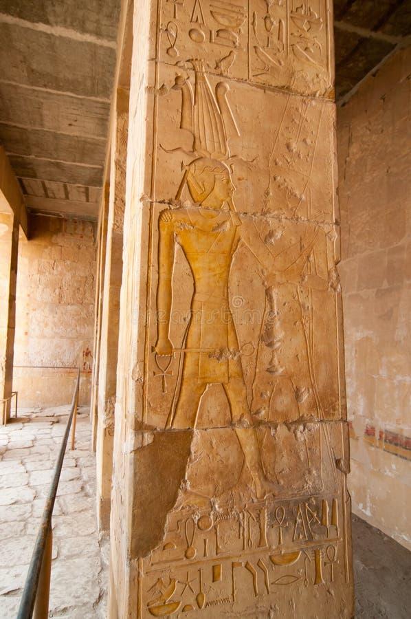 Tempiale mortuario della regina Hatshepsut fotografie stock